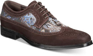 Tallia Men's Sergio Mixed-Media Tweed Oxfords Men's Shoes