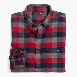 Buffalo David Bitton Mercantile Tall slim-fit heather flannel shirt in multi-colored check