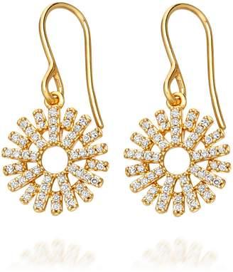 Astley Clarke Rising Sun Diamond Drop Earrings