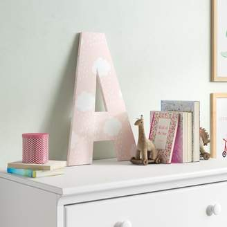 Viv + Rae Heilig Pink with White Clouds Oversized Hanging Initials Letter: A