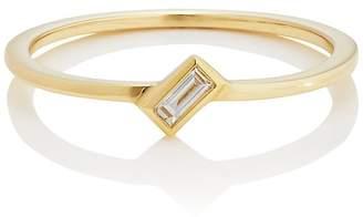 Ileana Makri Women's Baguette White Diamond Ring