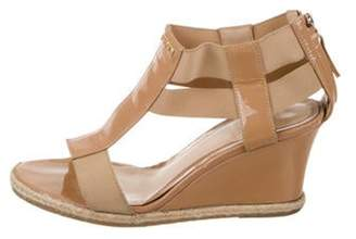 Fendi T-Strap Wedge Sandals gold T-Strap Wedge Sandals
