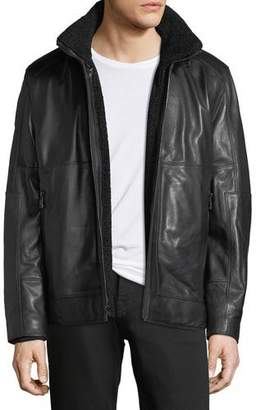 Andrew Marc Trail Master Italian Lambskin Leather Jacket