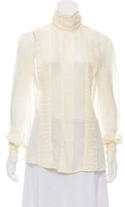 Alexander McQueen Silk Button Up Top