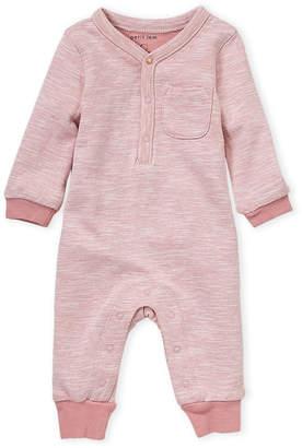 Petit Lem Newborn Girls) Pink Coveralls