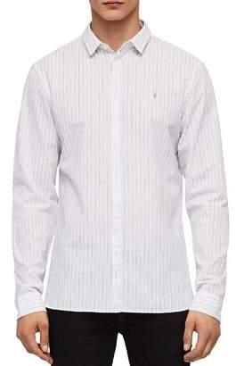 AllSaints Austin Slim Fit Striped Button-Down Shirt