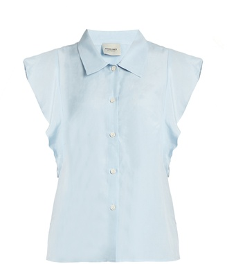 RACHEL COMEY Laurel ruffled-sleeve top $336 thestylecure.com