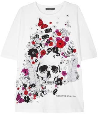 Alexander McQueen White Printed Cotton T
