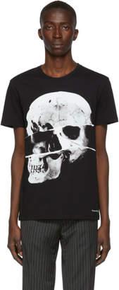 Alexander McQueen Black Torn Skull T-Shirt