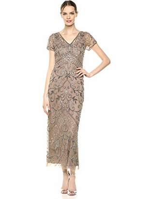 09c61e380be Pisarro Nights Women s Long V-Neck Dress with Beaded Motif