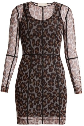 Christopher Kane Leopard Print Mesh Dress - Womens - Animal