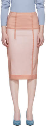 Victoria Beckham Pink Linear Pencil Skirt