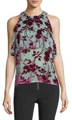Yigal Azrouel Velvet Floral Top