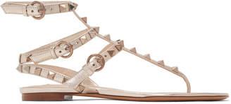 Valentino Gold Garavani Rockstud Cage Sandals