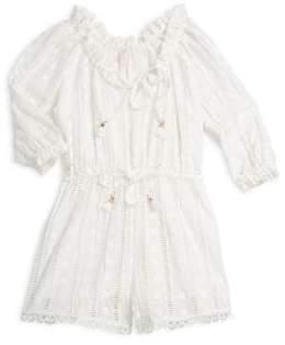 Zimmermann Kids Little Girl's& Girl's Long Sleeve Playsuit