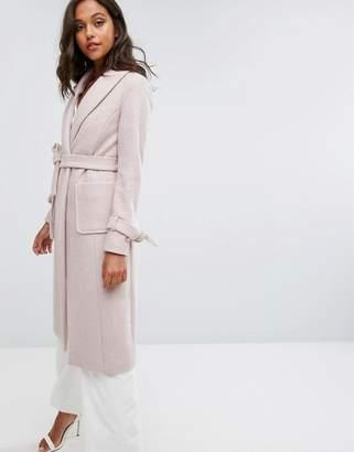 Lipsy Long Wool Gery Coat
