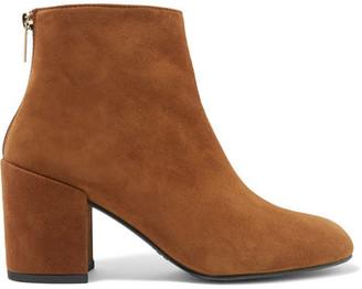 Stuart Weitzman - Bacari Suede Ankle Boots - Camel $535 thestylecure.com