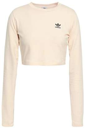 adidas Cropped Cotton-Blend Jersey T-Shirt