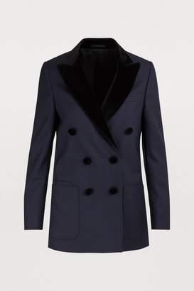 Officine Generale Manon velvet collar jacket