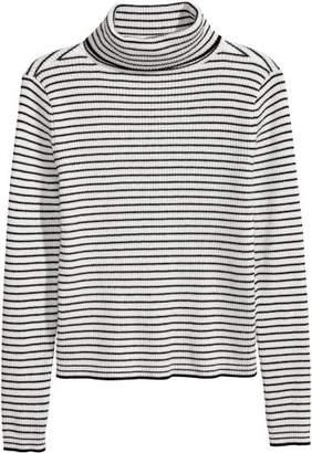 H&M Ribbed Turtleneck Sweater - White
