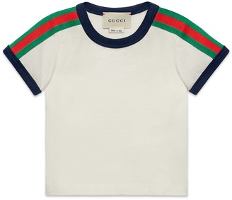 Gucci Baby T-shirt with Web and Kingsnake