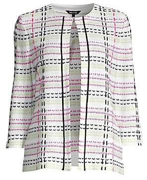 Misook Women's Multicolor-Stitch Jacket