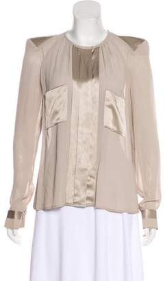 By Malene Birger Long Sleeve Crew Neck Top
