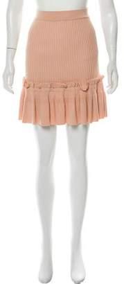 Jonathan Simkhai 2018 Knit Ruffle-Paneled Skirt w/ Tags