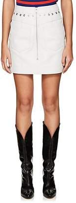 """Givenchy Women's Leather """"Backwards"""" Miniskirt - White"""