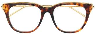 Boucheron Eyewear tortoiseshell square glasses