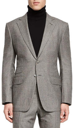 Tom Ford O'Connor Base Windowpane Two-Piece Suit, Ivory/Black