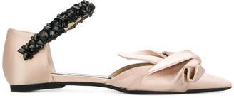 No.21 pointed toe ballerinas