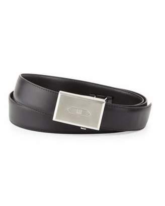 Dunhill Logo Leather Belt, Black