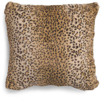 20x20 Faux Fur Leopard Pillow