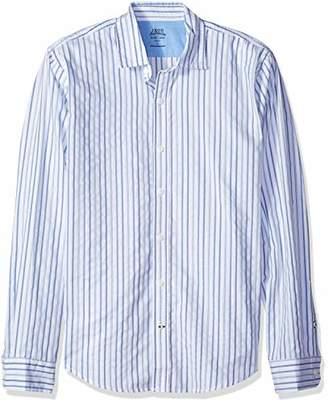 Izod Men's Saltwater Blues Slim Fit Long Sleeve Shirt