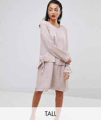 Y.A.S Tall Double Layer Silky Swing Dress