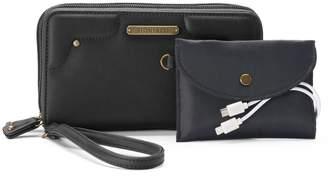 Stone & Co. Nubuck Phone Charging Wallet