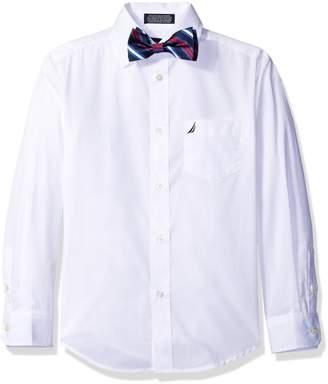 Nautica Boys' Long Sleeve Shirt and with Bow