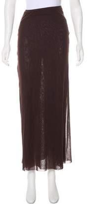 Jean Paul Gaultier Mesh Maxi Skirt