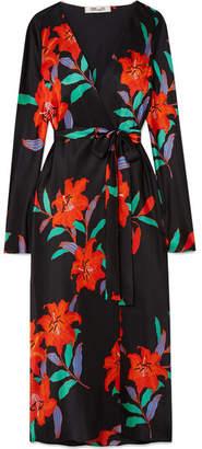 Diane von Furstenberg Tilly Floral-print Silk Crepe De Chine Wrap Dress