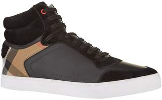 Burberry Reeth House Check High-Top Sneakers