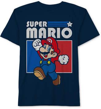 Nintendo Big Boys Super Mario-Print Cotton T-Shirt