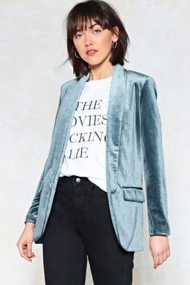 Nasty Gal Get a Load of This Velvet Blazer
