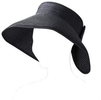 AERUSI Fashion Women's and Girl's roll-up Summer Bow Tie Straw Visor Sun Hat