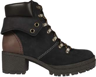 See by Chloe Chunky Heel Laced-up Boots