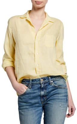 Frank And Eileen Eileen Button-Front Poplin Shirt, Yellow