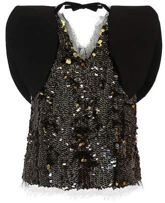 Rejina Pyo Riona sequinned top