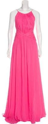 Maria Lucia Hohan Chiffon Evening Dress