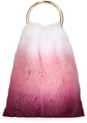 Simonetta Ravizza Furrissima OmbrA Mink Top Handle Bag, Pink