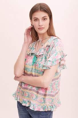 Audrey Floral-Print Peasant Blouse